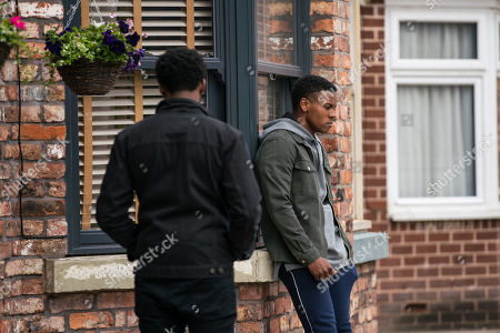 Coronation Street - Ep 10364 Wednesday 30th June 2021 - 1st Ep  James Bailey, as played by Nathan Graham, is horrified to see pictures online of him and Danny, as played by Dylan Brady, along with derogatory comments about his sexuality.