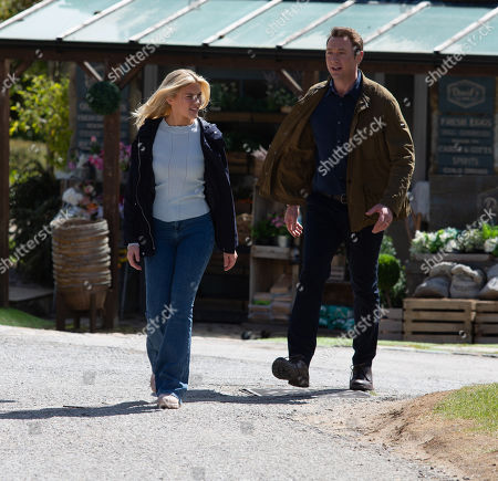 Stock Image of Emmerdale - Ep 9088 Thursday 1st July 2021 - 1st Ep Leanna Cavanagh's, as played by Mimi Slinger, upset Liam Cavanagh, as played by Jonny McPherson, won't support her dreams of going travelling.