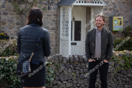 Stock Photo of Emmerdale - Ep 9086 Tuesday 29th June 2021 Meena's, as played by Paige Sandhu, plan backfires when David Metcalfe, as played by Matthew Wolfenden, cancels their dinner plans telling her Jacob needs him.
