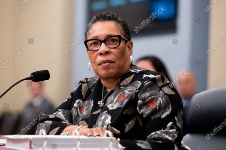 U.S. Secretary of Housing and Urban Development Marcia Fudge speaking at a hearing of the House Budget Committee.