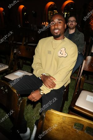 Stock Image of Demetrius Shipp Jr.. at Monaco, With God's Help Spring/Summer 2022 Paris Fashion Week event hosted by Rhude