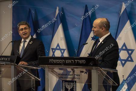 Editorial image of Israeli Prime Minster Bennett Meets Honduran President Hernandez in Jerusalem, Israel - 24 Jun 2021