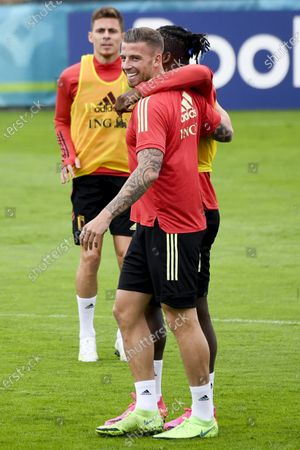 Training and media activities of the Belgian Red Devils football team in advance of their upcoming match against Portugal in the UEFA Euro 2020 competition. Michy Batshuayi and Toby Alderweireld