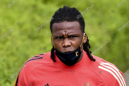 Training and media activities of the Belgian Red Devils football team in advance of their upcoming match against Portugal in the UEFA Euro 2020 competition. Michy Batshuayi