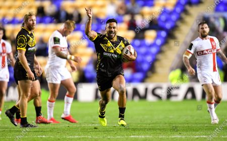 Stock Image of Kenny Edwards of the Combined Nations All Stars celebrates his side's victory