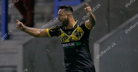 Stock Photo of Kenny Edwards of All Stars cele at the end of the match