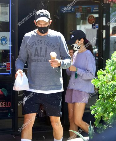 Editorial picture of Exclusive - Ashton Kutcher and Mila Kunis take their Kids to get Ice Cream on a Hot Day in Los Angeles, USA - 24 Jun 2021