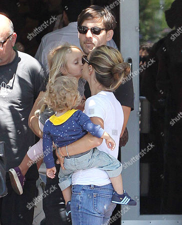 Editorial image of Tobey Maguire and family out and about in West Hollywood, Los Angeles, America - 14 Aug 2010