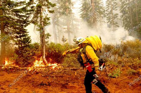 Editorial picture of Wildland Firefighter Pay, Plumas National Forest, United States - 15 Sep 2020
