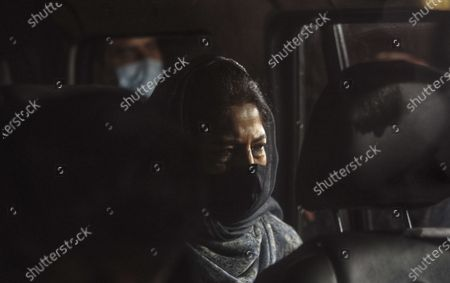 """Stock Photo of Former Chief Minister of J&K and PDP leader Mehbooba Mufti arrives at JK House after meeting of Prime Minister Narendra Modi with the leaders of Jammu and Kashmir on June 24, 2021 in New Delhi, India. This is the first high level interaction to be held between the central government and Kashmir's political leadership since 2019, when the former scrapped Article 370 and 35A, which gave special status to J-K and its people. Aftter around three-hour-long talks with Jammu and Kashmir political leaders, Prime Minister Narendra Modi said delimitation has to happen at quick pace so that polls can happen. """"Our priority is to strengthen grassroots democracy in J&K. Delimitation has to happen at a quick pace so that polls can happen and J&K gets an elected Government that gives strength to J&K's development trajectory,"""" PM Modi said in a tweet."""