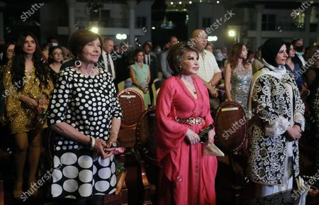 Macha Meril (L) attends the opening ceremony of the fifth Aswan International Women Film Festival (AIWFF), in Aswan, Egypt, 24 June 2021. The AIWFF runs from 24 to 28 June.