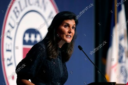 Editorial picture of Republicans Iowa Haley, West Des Moines, United States - 24 Jun 2021