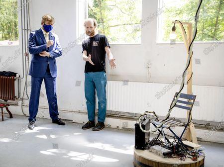Editorial picture of King Visits Open Studios Rijksakademie Van Beeldende Kunst, Amsterdam, Netherlands - 24 Jun 2021