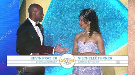 Stock Picture of Kevin Frazier and Nischelle Turner