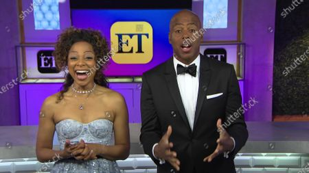 Stock Image of Nischelle Turner and Kevin Frazier - Outstanding Entertainment News Program - 'Entertainment Tonight'