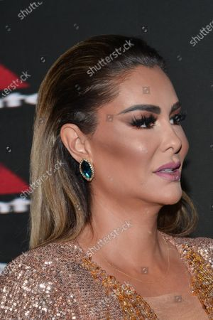 Singer Ninel Conde poses for photos during the black carpet of the musical Siete at Pepsi Center on June 24, 2021 in Mexico City, Mexico.