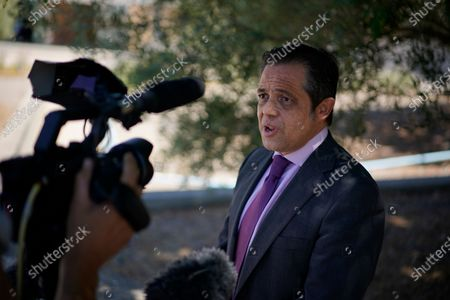 """Lawyer Javier Villalba speaks briefly with journalists on leaving the Brians 2 penitentiary center in Sant Esteve Sesrovires, near Barcelona, northeast Spain, . A judge in northeastern Spain has ordered an autopsy for John McAfee, creator of the McAfee antivirus software, a gun-loving antivirus pioneer, cryptocurrency promoter and occasional politician who died in a cell pending extradition to the United States for allegedly evading millions in unpaid taxes. McAfee's Spanish lawyer, Javier Villalba, said the entrepreneur's death had come as a surprise to his wife and other relatives, since McAfee """"had not said goodbye"""