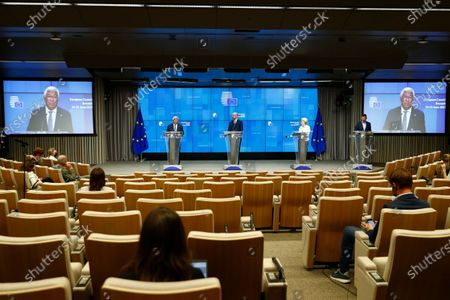Editorial photo of News conference after European Union leaders meeting in Brussels, Belgium - 25 Jun 2021