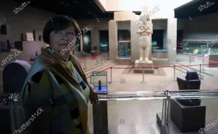 Stock Picture of Macha Meril visits the Nubia Museum in Aswan, southern Egypt, 25 June 2021. Meril is visiting Aswan to participate in the Aswan International Women Film Festival, running from24 to 28 June.