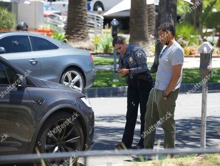 Editorial picture of Exclusive - Michael Ealy gets a parking ticket, Los Angeles, USA - 24 Jun 2021