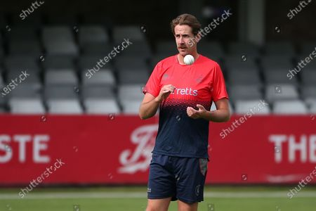 Matt Quinn of Kent ahead of Essex Eagles vs Kent Spitfires, Vitality Blast T20 Cricket at The Cloudfm County Ground on 25th June 2021