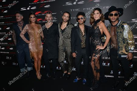 Stock Image of Ninel Conde, Hector Quijano, Kalimba, Patricia Manterola, Samuel Parra attend at red carpet of the premiere of Musical Siete at Mexico City Pepsi Center