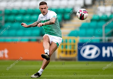 Shamrock Rovers vs Drogheda United. Anthony Stokes before the game