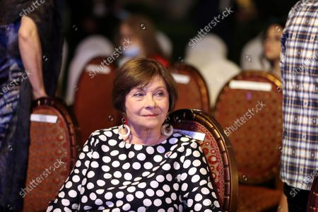 (210625) - ASWAN, June 25, 2021 (Xinhua) - French actress and writer Macha Meril is waiting for the fifth edition of Aswan International Women Film Festival (AIWFF) in Aswan, Egypt, June 24, 2021. The fifth edition of Aswan International Women Film Festival (AIWFF) opened on Thursday night in Aswan with the participation of 12 feature films and 14 short ones focusing on women's rights and causes.
