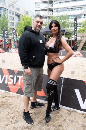 Stock Image of Micaela Schaefer and Imad Mardnli