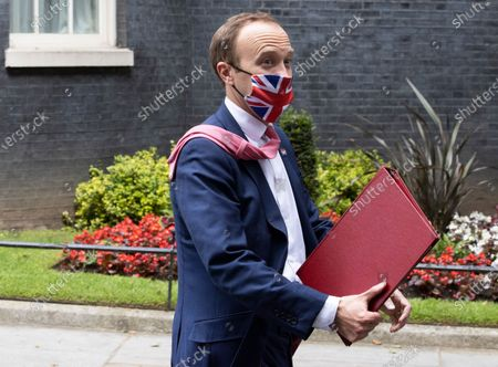 Matt Hancock leaves Number 10 on June 23rd after a meeting with Senior Health officials at 10 Downing Street.