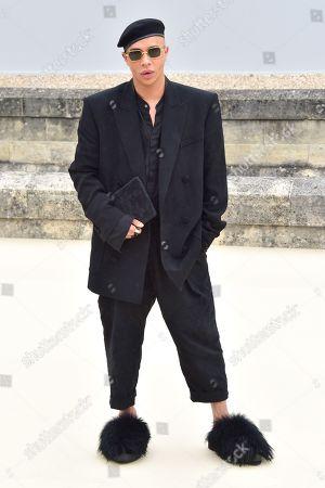Editorial picture of Dior Homme show, Arrivals, Spring Summer 2022, Paris Fashion Week Men's, France - 25 Jun 2021