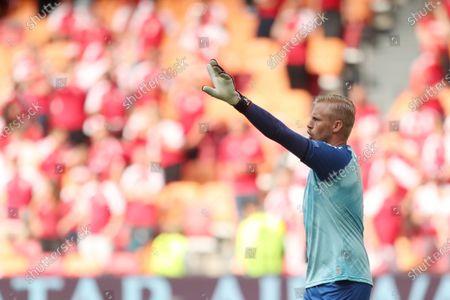 Goal Keeper Kasper Schmeichel of Denmark