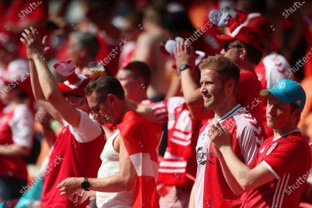 Denmark fans inside the stadium