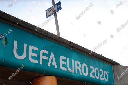 UEFA EURO 2020 branding at the Johan Cruijff Arena
