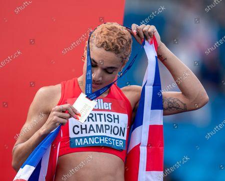 Editorial photo of Muller British Athletics Championships, Athletics, Manchester Regional Arena, Manchester, UK - 27 Jun 2021