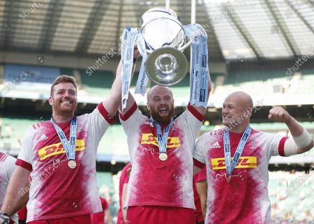 Editorial photo of Exeter Chiefs v Harlequins, Gallagher Premiership, Final, Rugby Union, Twickenham Stadium, London, UK - 26 June 2021