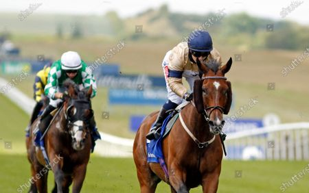 OUTBOX (Hollie Doyle) wins The Close Brothers Fred Archer Stakes Newmarket
