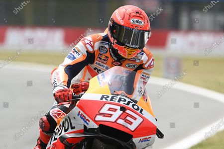 TT CIRCUIT ASSEN, NETHERLANDS - JUNE 26: Marc Marquez, Repsol Honda Team during the Dutch GP at TT Circuit Assen on Saturday June 26, 2021 in ASSEN, Netherlands. (Photo by Gold and Goose / LAT Images)