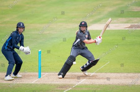 Stock Photo of Thunder's Natalie Brown hits out against the Northern Diamonds.