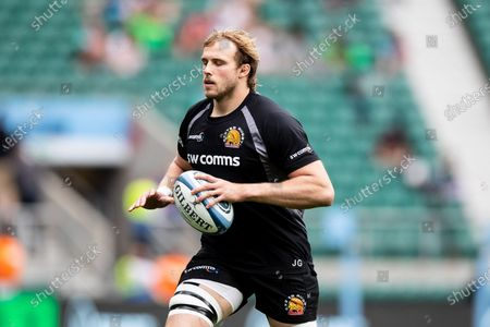 Jonny Gray of Exeter Chiefs ahead of the Gallagher Premiership Play-Off Final Rugby match between Exeter Chiefs and Harlequins at Twickenham, Richmond