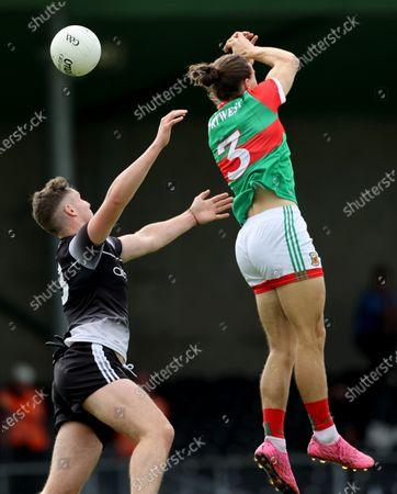 Sligo vs Mayo. Sligo's Barry Gorman and Oisin Mullin of Mayo