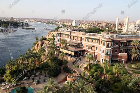 A view of the Old Cataract Hotel in Aswan, southern Egypt, 25 June 2021.The Old Cataract was built in 1899 by Thomas Cook to house European travelers. Its guests included famous people as Winston Churchill, Howard Carter, Margaret Thatcher, Jimmy Carter, and Princess Diana.