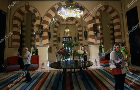 A view inside the Old Cataract Hotel in Aswan, southern Egypt, 25 June 2021 (issued 26 June 2021).The Old Cataract was built in 1899 by Thomas Cook to house European travelers. Its guests included famous people as Winston Churchill, Howard Carter, Margaret Thatcher, Jimmy Carter, and Princess Diana.