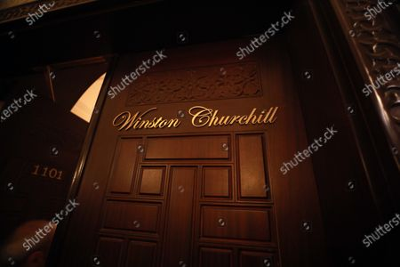 A view of the door to the Winston Churchill suite in the Old Cataract Hotel in Aswan, southern Egypt, 25 June 2021 (issued 26 June 2021).The Old Cataract was built in 1899 by Thomas Cook to house European travelers. Its guests included famous people as Winston Churchill, Howard Carter, Margaret Thatcher, Jimmy Carter, and Princess Diana.