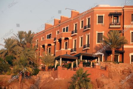 A view of the Old Cataract Hotel in Aswan, southern Egypt, 26 June 2021. The Old Cataract was built in 1899 by Thomas Cook to house European travelers. Its guests included famous people as Winston Churchill, Howard Carter, Margaret Thatcher, Jimmy Carter, and Princess Diana.