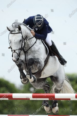 Stock Picture of Roger Yves BOST (FRA) riding Muhammad Ali VDV Z, Global Champions League, second competition presented by Metrobus Prize