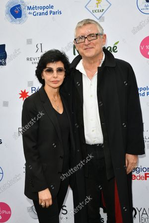 Stock Image of Rachida Dati and Michel Onfray