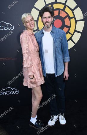 Stock Picture of Jason Reitman, right, arrives at CTAOP's Night Out 2021: Fast and Furious, at the Universal Studios Backlot in Los Angeles