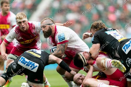 Stock Picture of Joe Marler of Harlequins in action during the Gallagher Premiership match between Exeter Chiefs and Harlequins at Twickenham Stadium, Twickenham on Saturday 26th June 2021.