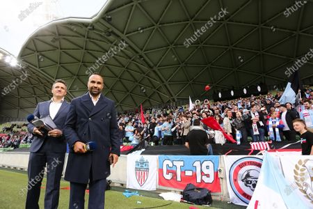 A-League legend Archie Thompson poses during the A-League Grand-Final soccer match between Melbourne City FC and Sydney FC
